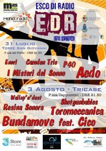 """Locandina """"Esco di Radio LIVE"""" 2013"""
