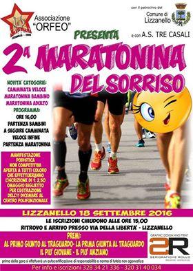 Maratonina del Sorriso locandina