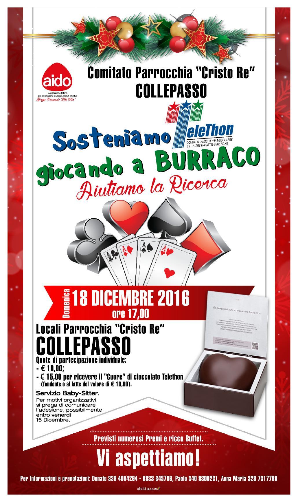 BURRACO X TELETHON 2016